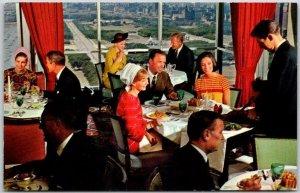 1950s CHICAGO Illinois Postcard LA TOUR CAFÉ FRANCAIS Restaurant View Unused