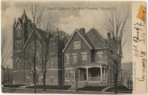 1901-1907 Warren PA Swedish Lutheran Church & Parsonage RARE Antique DB Postcard