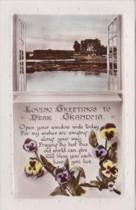 Loving Greetings To Dear Grandma Real Photo Regent Publishing Company London