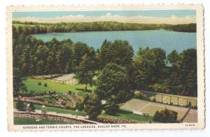 Eagles Mere PA Gardens Tennis Courts The Lakeside 1931