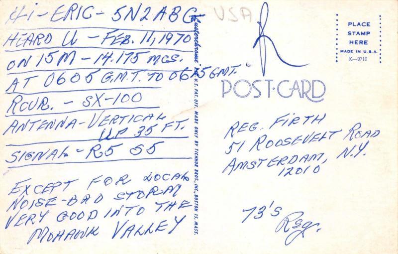 Postcard greetings from amsterdam new york usa large letter card postcard greetings from amsterdam new york usa large letter card 568 m4hsunfo
