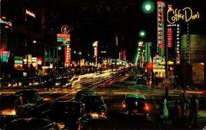 California Hollywood Coffee Dan's Restaurant Hollywood Boulevard At Night