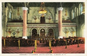 Postcard State Capitol Assembly Chamber Albany New York