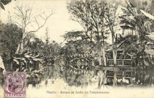 mauritius maurice, PAMPLEMOUSSES, Kiosque au Jardin (1906) Stamp