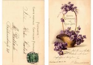 CPA Veilchen Meissner & Buch Litho Serie 1072 (730661)