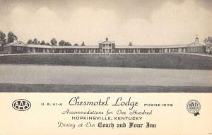 Hopkinsville Kentucky Chesmotel Lodge Street View Antique Postcard K97404