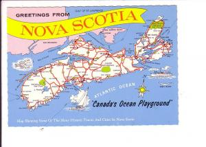 Map of Nova Scotia, Canada's Ocean Playground