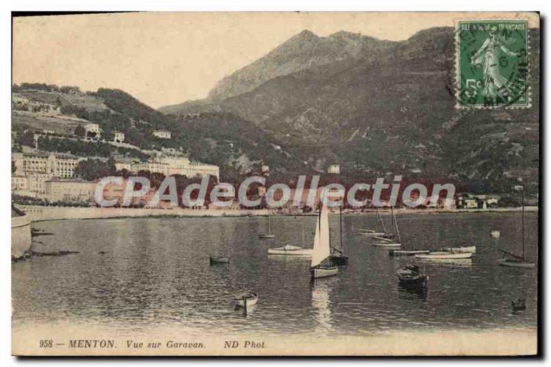 Postcard View Of Old Menton Garavan