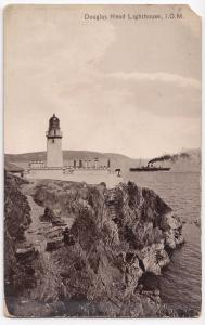 Isle of Man; Douglas Head Lighthouse, PPC, Unposted, By Valentines