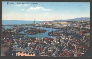 104518 ITALY GENOVA Panorama from Castelletto GENOA Vintage