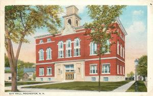 Rochester New Hampshire~City Hall~Italianate Structure~1920s Postcard