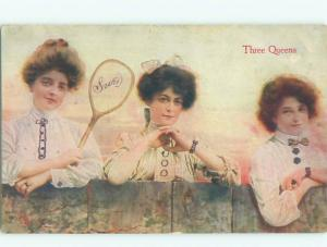 Divided-Back PRETTY WOMAN Risque Interest Postcard AA7947