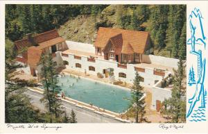 Aerial View, Swimming Pool, Miette Hot Springs, JASPER, Alberta, Canada, 40-60's