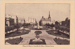 Argentina Buenos Ayres Plaza de Mayo y Avenida de Mayo