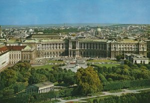 Aerial View Wien Vienna Neue Hofburg souvenir Postcard