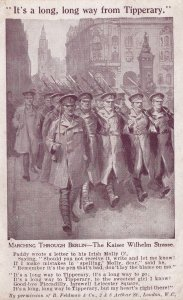 Its A Long Way From Tipperary Irish Soldier Berlin Marching Postcard