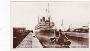 RP; The Royal George Ocean LIner Entering Avonmouth Dock, UK , 10-20s