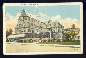 Cape May, New Jersey/NJ Postcard, Star Villa, 1926!