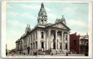 Mobile, Alabama Postcard County Court House & Jail Detroit Pub. C1910s Unused