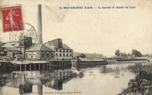 CPA BRAY-sur-SEINE - La Sucrerie et l'Entrée du Canal (120324)