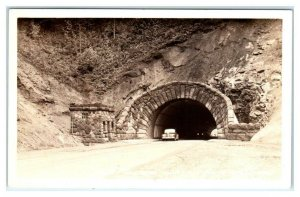 RPPC WOLF CREEK, OR Oregon ~ HIGHWAY TUNNEL Portland to Seaside c1940s  Postcard