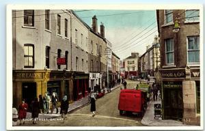 Shop Street Galway Ireland Street View Town View Vintage Postcard D74