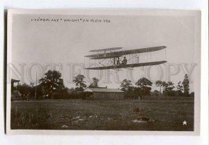 415312 FRANCE Aviation airplane Wright Vintage photo postcard