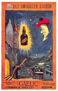 Boston MA Codman & Hall Old Smuggler Scotch Whisky Advertising Postcard