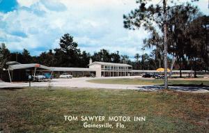 GAINESVILLE, FL  Florida     TOM SAWYER MOTOR INN    Roadside c1950's Postcard