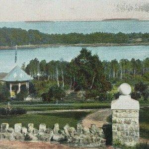 Camden Maine ME Norumbega Grounds Shermans Point Sherman's Cove Vtg Postcard D57