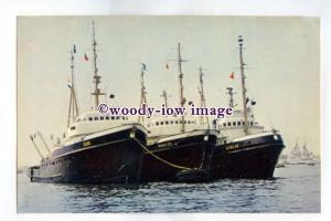 pf2665 - Dutch Smit Tugs - Elbe , Tasman Zee , Schelde - postcard
