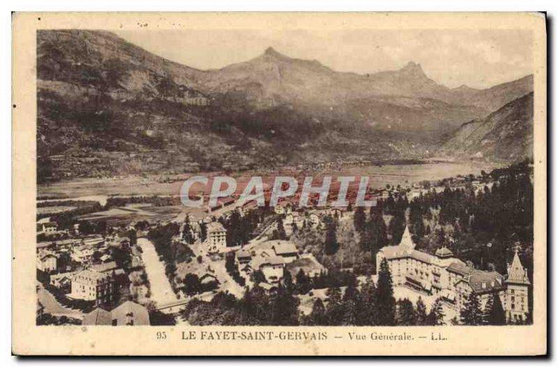 Old Postcard Saint Gervais Le Fayet General view