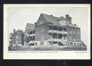 JAMESTOWN NORTH DAKOTA HOSPITAL FOR THE INSAND ASYLUM WOMANS POSTCARD