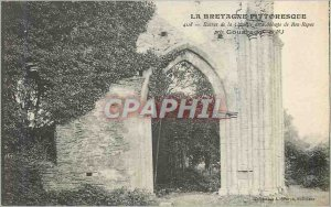 Postcard Ancient Ruins of the Chapel of the Abbey of Bon Repos near Gouarec B...