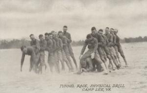 CAMP LEE, Virginia, 1910-20s; Tunnel Race, Physical Drill
