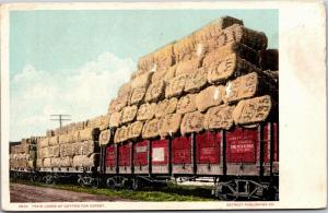 Train Loads of Cotton Bales for Export, Undivided Back Vintage Postcard Y03
