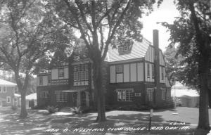 Red Oak IA Monday Club Meets At The Hysham Club House~RPPC c1950