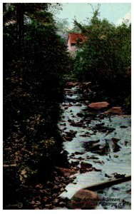 New York  Stream in  Hague on Lake George