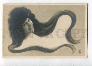 3029929 Elise de VERE French Opera LONG HAIR Art Nouveau PHOTO