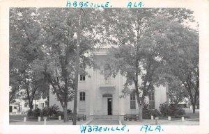 Abbeville Alabama Court House Real Photo Vintage Postcard AA1166