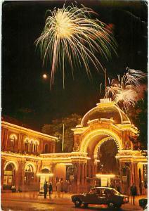 Copenaghen Tivoli Main Entrance Denmark Night Scene Fireworks   Postcard  # 7673