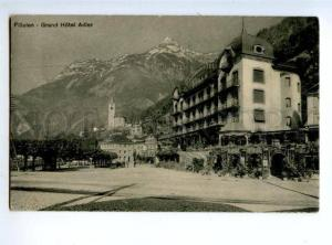 155774 SWITZERLAND FLUELEN Grand Hotel Adler Vintage postcard