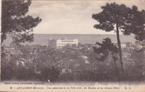 ARCACHON, Gironde, France, 1900-1910´s; Vue Generale De La  Ville D'Ete, Du ...