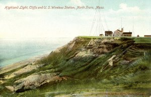 MA - Cape Cod, North Truro. Highland Light, Cliffs. US Wireless Station