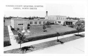 Cando North Dakota Towner Memorial Hospital Real Photo Antique Postcard K82010