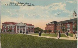 DELAND FL - ELIZABETH HALL & LIBRARY at STETSON UNIV - 1916