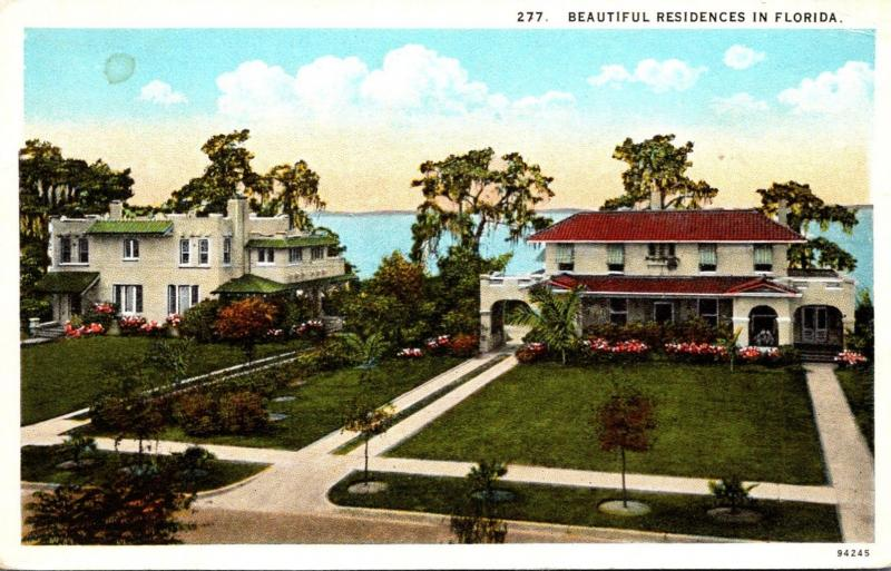 Florida Beautiful Tropical Homes 1930 Curteich