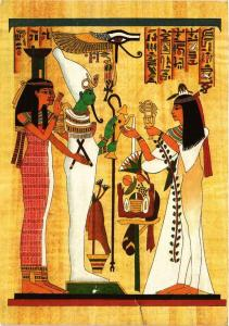 CPM EGYPTE The singer of Amon, infront of Osiris, Isis Nephtys (343406)
