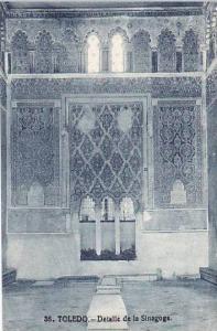 Spain Toledo Detalla de la Sinagoga