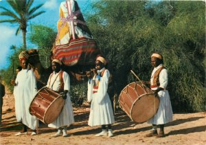 Postcard Africa native ethnic tunisian weding folklore ritual